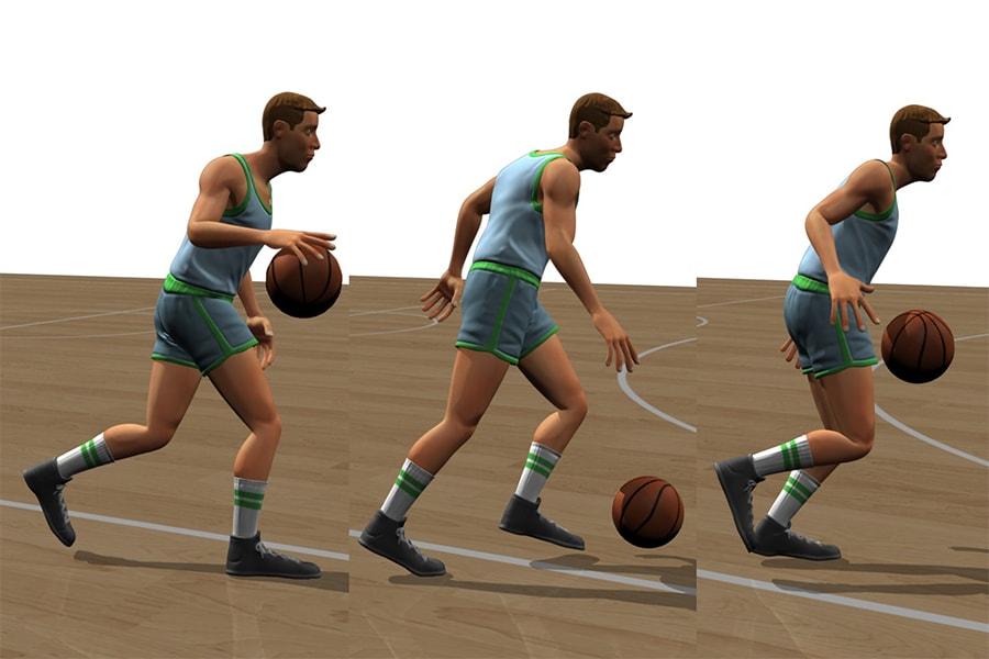 پیش بردن توپ در بسکتبال